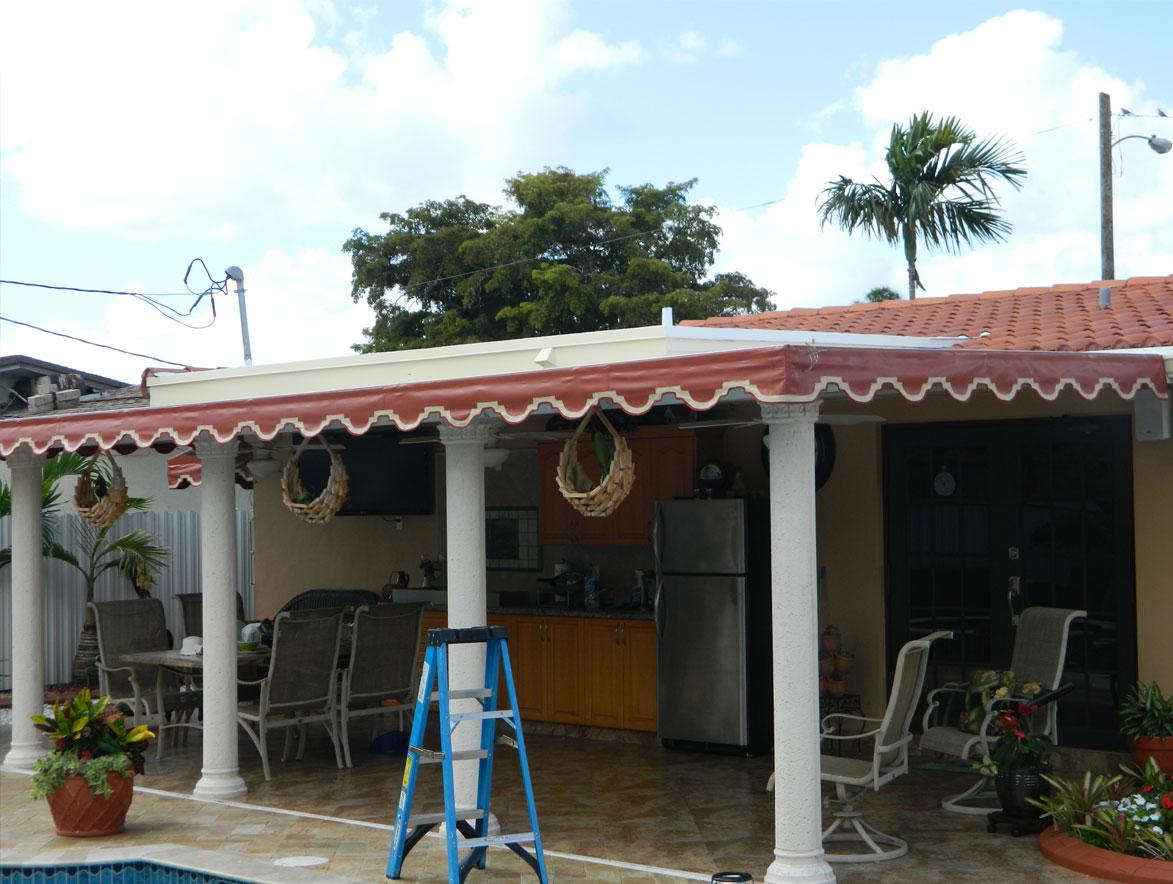 Sunset Awnings Miami Florida Canopies Cabanas Carport
